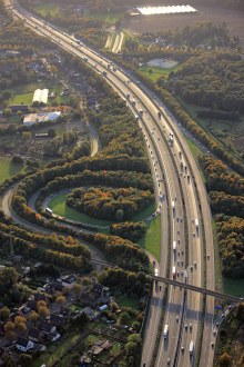 Autobahn from the air